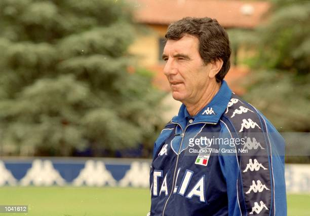 Portrait of Dino Zoff of Italy during the Italian national team squad training held at the National Team Headquarters in Coverciano Florence Italy...