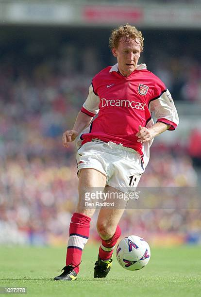 Ray Parlour of Arsenal in action during the FA Carling Premiership game against Chelsea at Highbury in London England Arsenal won 2 1 Mandatory...
