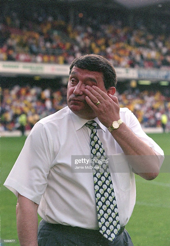 Watford manager Graham Taylor after the FA Carling Premiership match against Coventry City at Vicarage Road in London. Watford won the match 1-0. \ Mandatory Credit: Jamie McDonald /Allsport