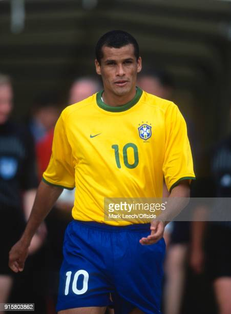 Friendly International Football Match England v Brazil Rivaldo of Brazil walking out onto the pitch