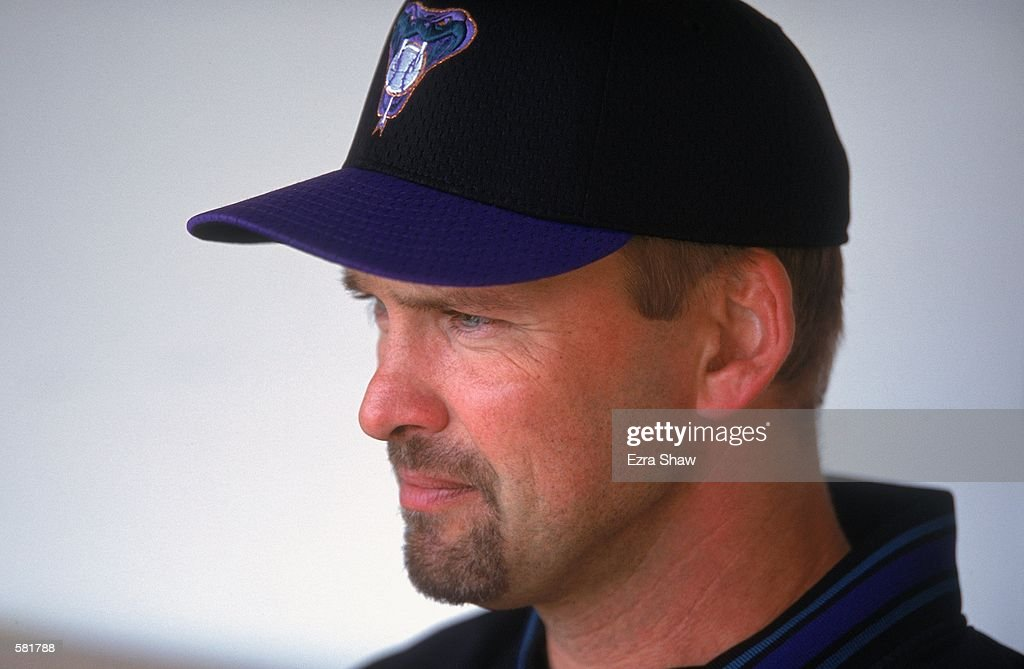 A close up of Mark Grace #17 of the Arizona Diamondbacks watching the action during the game against the Chicago Cubs at Wrigley Field in Chicago, Illinois. The Cubs defeated the Diamondbacks 6-5.Mandatory Credit: Ezra Shaw /Allsport