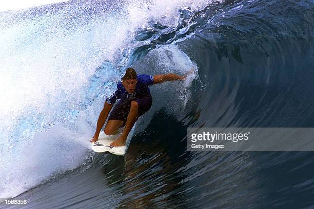 Bruce Irons of the USA in action to win the Von Zipper Hinano Trials which secured him a wildcard to the The Billabong Pro during the Von Zipper...