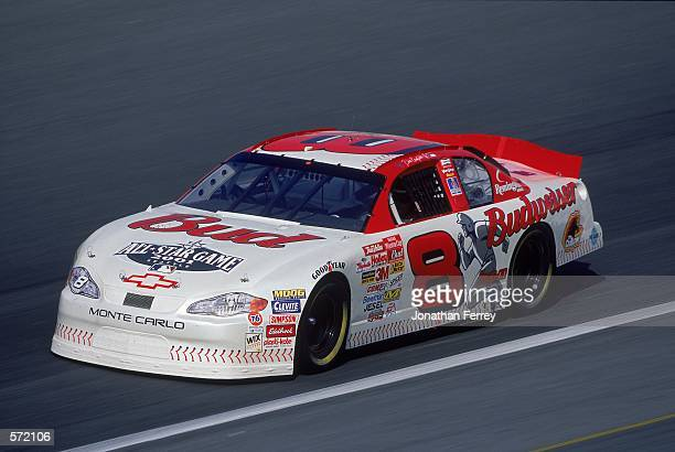 Dale Earnhardt Jr #8 who drives a Chevy Monte Carlo for Dale Earnhardt Inc races by during The Winston part of the Nascar Winston Cup Series at...