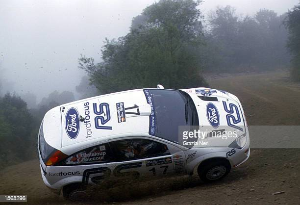 Francoise Delecour with Ford Focus wrc crashing during the World Rally Championships in Argentina Germano Gritti / Grazia Neri DIGITAL IMAGE...