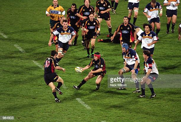 General action during the Super 12 match played between the ACT Brumbies and the Chiefs held at Bruce Stadium, Canberra. Australia. Mandatory Credit:...