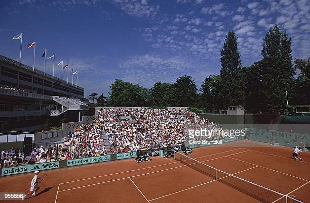 General view of Court Number Two during the French Open 2001 second round matches at Roland Garros in Paris France Mandatory Credit Clive Brunskill...
