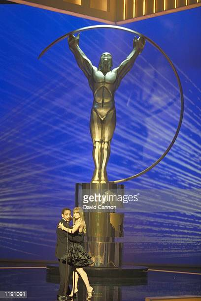 Gregory Hines dances with Heidi Klum during the Awards Ceremony of the Laureus World Sports Awards Gala at the Grimaldi Forum in Monaco Mandatory...