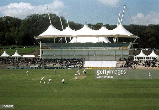 Hampshire take on Surrey in the Benson Hedges Cup in their first match at their new home The Hampshire Rose Bowl at West End Southampton Mandatory...