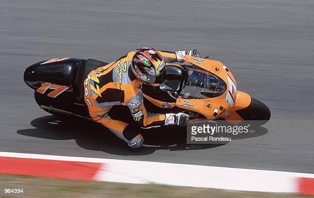 Jurgen vd Goorbergh in action on his Proton Team KR during the 500cc Motorcycle Grand Prix at Circuit De Catalunya in Barcelona Spain Mandatory...