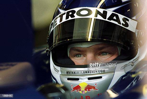 Kimi Raikkonen of Finland and Sauber in the pits during the first free practice session for the Austrian Grand Prix at the A1 Ring in Spielberg...