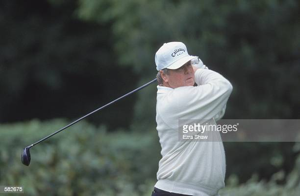 Leonard Thompson drives the ball down the fairway during the 62nd Seniors PGA Championship at the Ridgewood Country Club in Paramus, New...