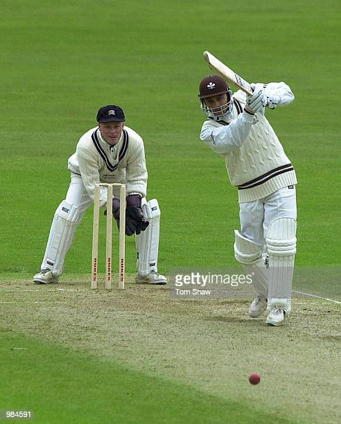 Mark Ramprakash of Surrey hits out during the Surrey v Middlesex Benson and Hedges cup one day match at The Oval, London Mandatory Credit: Tom...