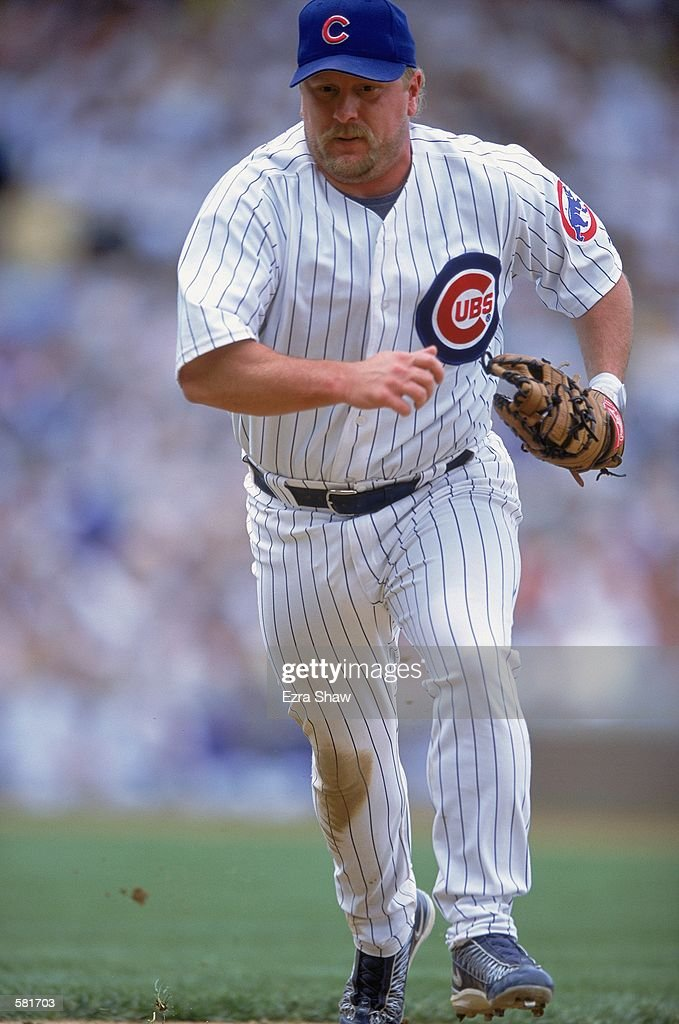 Matt Stairs #24 of the Chicago Cubs runs to field the ball during the game against the Arizona Diamondbacks at Wrigley Field in Chicago, Illinois. The Cubs defeated the Diamondbacks 6-5.Mandatory Credit: Ezra Shaw /Allsport