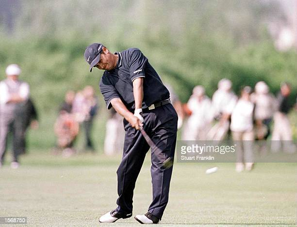 Michael Campbell of New Zealand in action during the Second Round of the Deutsche Bank SAP Open at the StLeonRot Golf Club Germany Mandatory Credit...