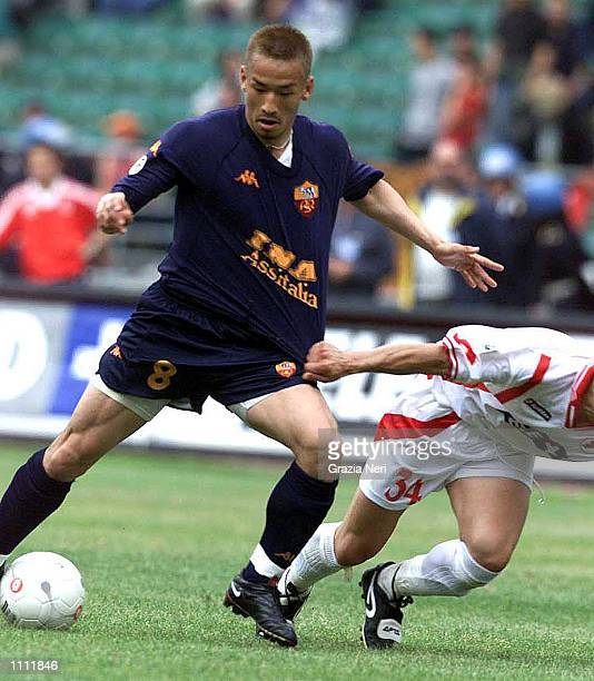 Nakata of Roma in action during the Serie A 31st Round League match between Bari and Roma played at the San Nicola Stadium Bari TODAY/ GRAZIA NERI...