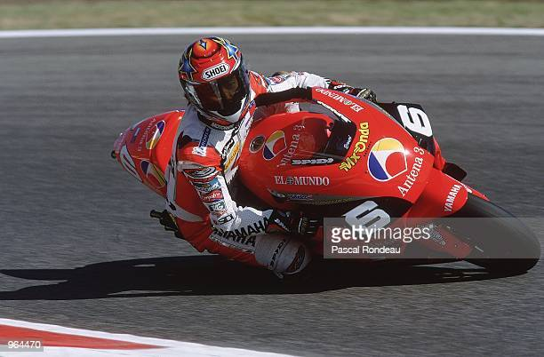 Norifumi Abe or Norick Abe of Japan in action on his Antena 3 Yamaha during the 500cc Motorcycle Grand Prix at Circuit De Catalunya in Barcelona...