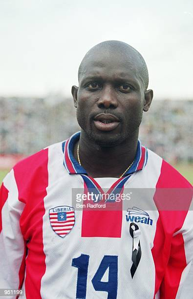 Portrait of George Weah of Liberia before the World Cup 2002 Group B Second Round Qualifying match against Nigeria played at Port Harcourt in Nigeria...