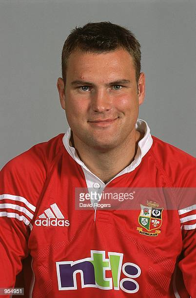 Portrait of Jeremy Davidson of the British and Irish Lions for the tour to Australia at a photo call in Basingstoke, England. \ Mandatory Credit:...
