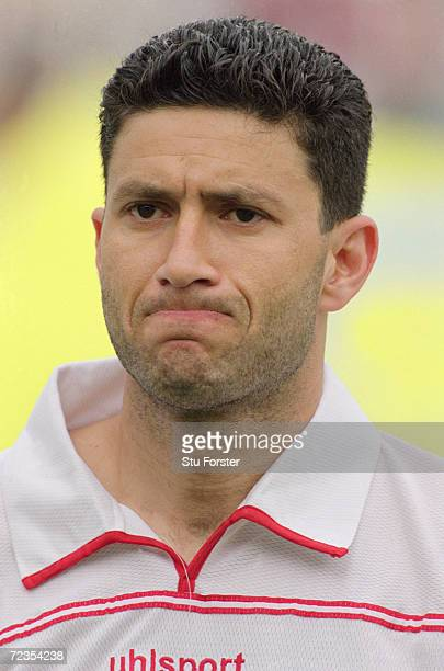 Portrait of Zoubeir Baya of Tunisia before the CAF 2nd Round Group D World Cup Qualifier against the Ivory Coast at the El Menzah Stadium in Tunis...