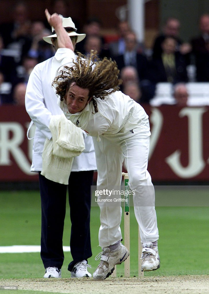 Ryan Sidebottom of England during the 3rd days play of the npower 1st Test Match at Lords Cricket Ground in London. Digital Image. Mandatory Credit: Laurence Griffiths/ALLSPORT