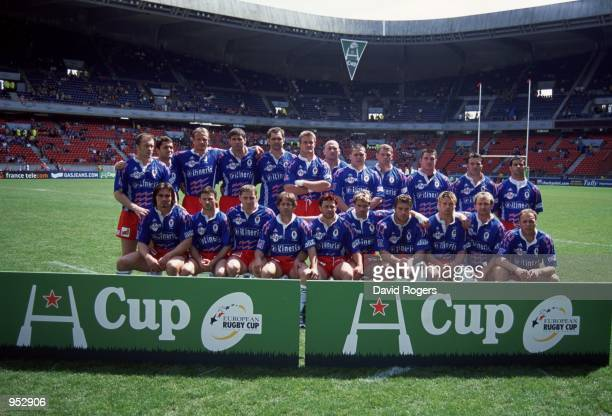 Stade Francais team group before the Heineken Cup Final 2001 against Leicester played at the Parc Des Princes, in Paris, France. Leicester won the...