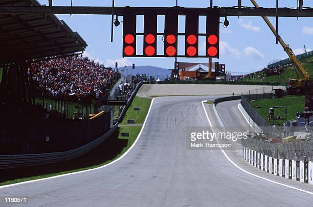 The start lights at the Formula One Austrian Grand Prix at the A1 Ring in Spielberg Austria Mandatory Credit Mark Thompson /Allsport