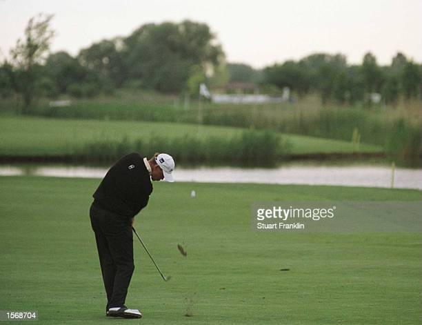 Thomas Bjorn of Denmark in action during the Second Round of the Deutsche Bank SAP Open at the StLeonRot Golf Club Germany Mandatory Credit Stuart...