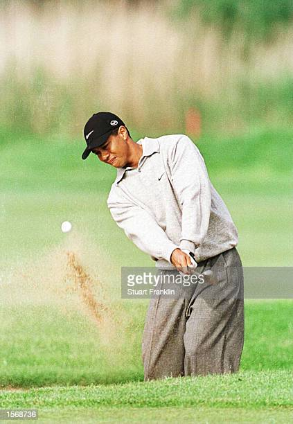 Tiger Woods of USA in action during the Second Round of the Deutsche Bank SAP Open at the StLeonRot Golf Club Germany Mandatory Credit Stuart...
