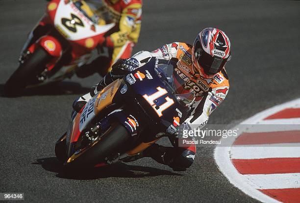 Toro Ukawa of Japan in action on his Repsol Honda during the 500cc Motorcycle Grand Prix at Circuit De Catalunya in Barcelona Spain Mandatory Credit...