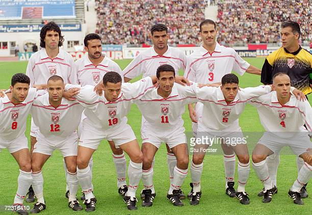 Tunisia line up for the CAF 2nd Round Group D World Cup Qualifier against the Ivory Coast at the El Menzah Stadium in Tunis Tunisia Mandatory Credit...