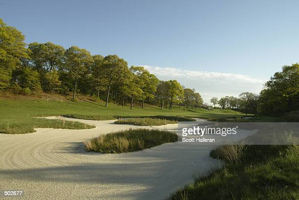 A general view of the fifth fairway at the Bethpage State Park Black course that will host the 2002 US Open this summer in Farmingdale New York