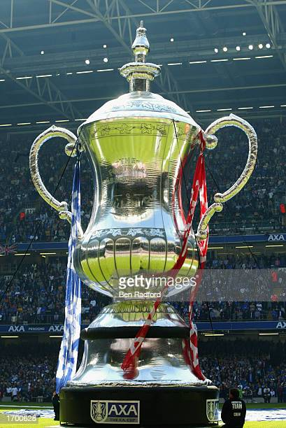 AXA FA Cup trophy balloon is raised before the AXA sponsored FA Cup Final between Arsenal and Chelsea played at the Millennium Stadium in Cardiff...