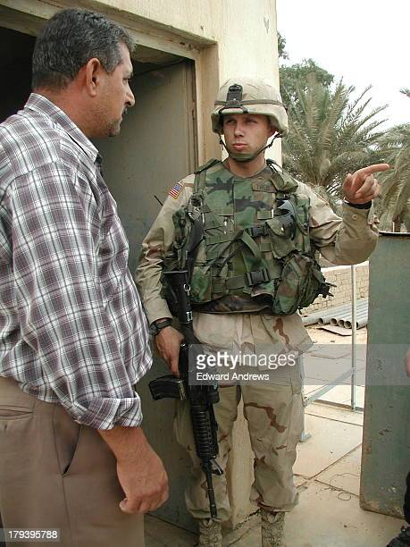 May 2003 Saturday Al Bayaa Fire Station LT Theis and Iraqi Fire Chief A young soldier a second lieutenant came into our office this morning asking...