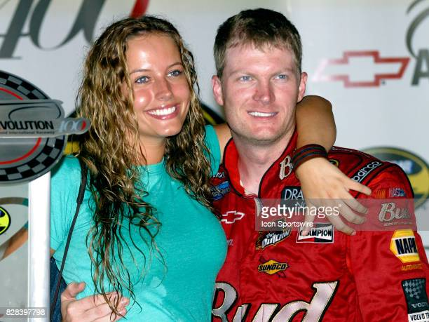 Dale Earnhardt Jr with his girlfriend after winning the Chevrolet Revolution 400 at Richmond International Raceway in Richmond VA