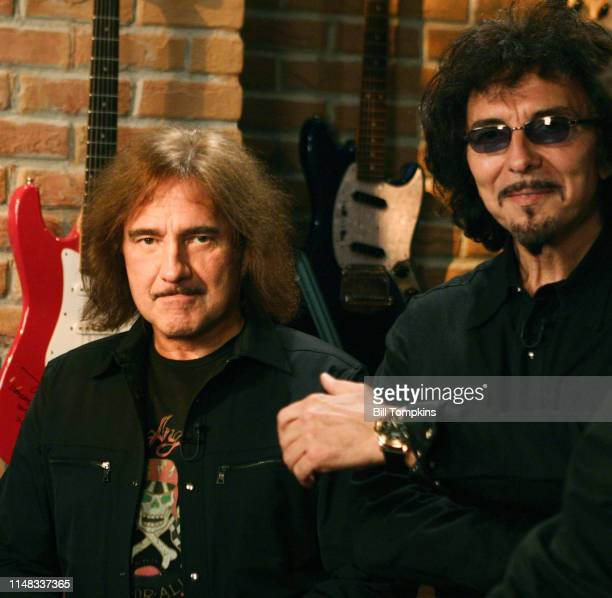 Geezer Butler bass player and Tony Iommi lead guitar for Black Sabbath on May 2005 in New York City