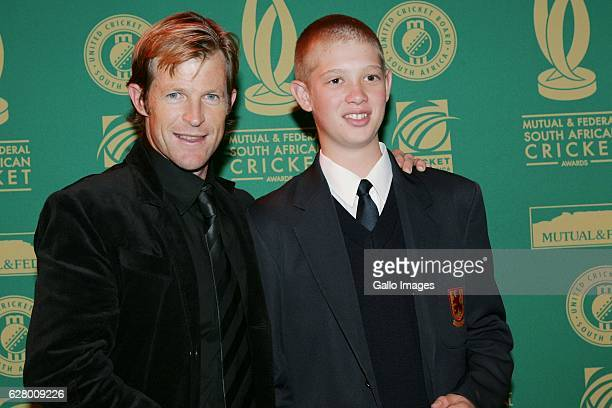 May 2006 Jonty Rhodes and Keaton Jennings during the Mutual and Federal South African Cricket Awards held at the Theatre on the Track in Kyalami...