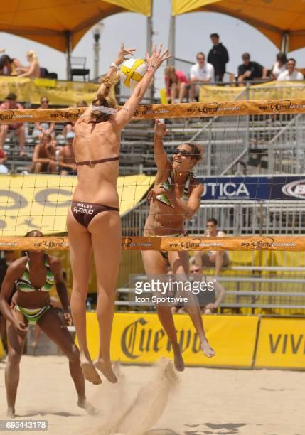 Jenny Johnson Jordan during the AVP Crocs Tour Cuervo Gold Crown Huntington Beach Open at Huntington Beach CA