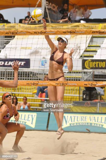 Kerri Walsh during the AVP Crocs Tour Cuervo Gold Crown Huntington Beach Open at Huntington Beach CA