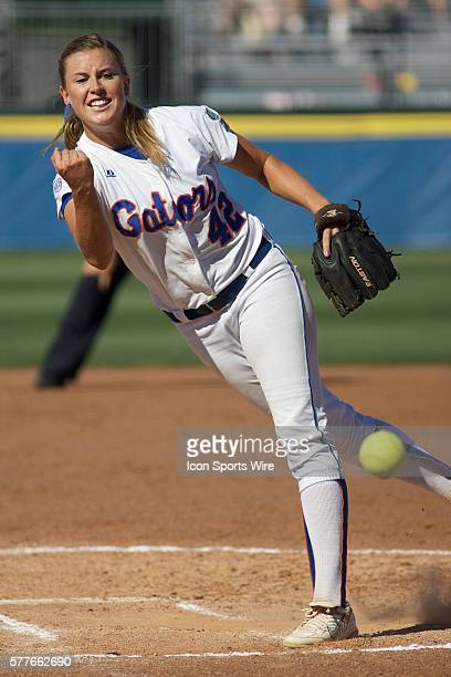 Florida pitcher Stacey Nelson during the NCAA Women's College World Series as the University of Florida Gators beat the University of Alabama Crimson...