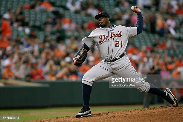 Pitcher Dontrelle Willis in action during the Baltimore Orioles versus the visiting Detroit Tigers at Oriole Park at Camden Yards in Baltimore...