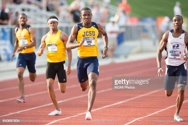 Akino Ming of Johnson C Smith University cometes in the 400 Meter Dash during the NCAA Division II Outdoor Track and Field Championships at the Neda...