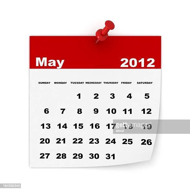 may 2012 calendar - may stock pictures, royalty-free photos & images