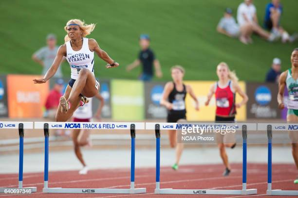 Yanique Haye of Lincoln University races towards the finish line in the Women's 400 Meter Hurdles during the NCAA Division II Outdoor Track and Field...