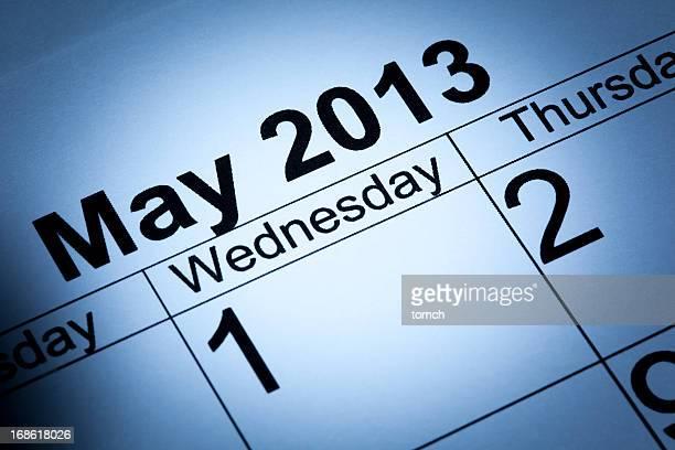 mai 2013 calendar - mois de mai photos et images de collection