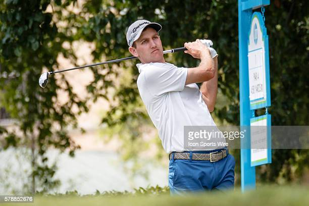 Brendon Todd hits his opening tee shot on during the 3rd round of the HP Byron Nelson Championship held at the TPC Four Seasons Resort in Irving TX