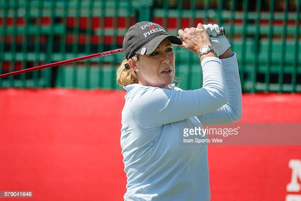 Christie Kerr hits her tee shot on during the first round of the North Texas LPGA Shootout played at the Las Colinas Country Club in Irving TX