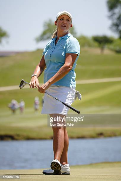 Christie Kerr reacts after she just misses a birdie on during the final round of the North Texas LPGA Shootout played at the Las Colinas Country Club...