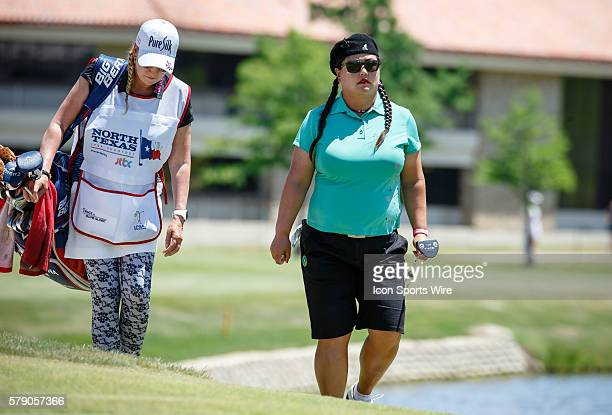 Christina Kim walks up to the 8th green during the final round of the North Texas LPGA Shootout played at the Las Colinas Country Club in Irving TX