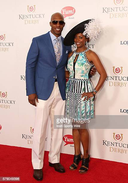 Detroit Pistons guard Chauncey Billups with his wife Piper arrives on the red carpet before the 140th running of the Kentucky Derby at Churchill...