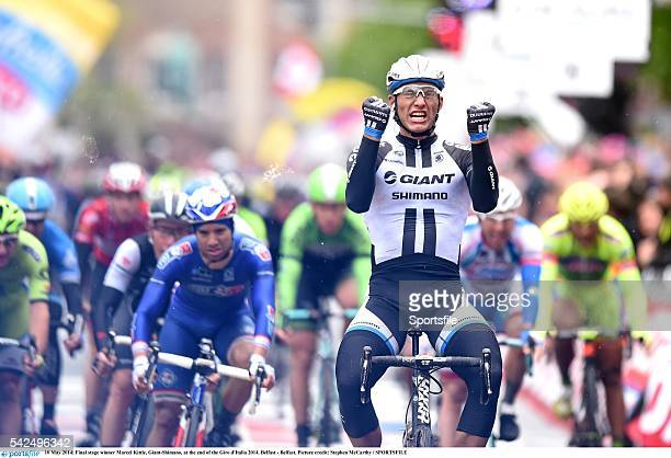 10 May 2014 Final stage winner Marcel Kittle GiantShimano at the end of the Giro d'Italia 2014 Belfast Belfast Picture credit Stephen McCarthy /...